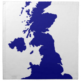 U.K. and Northern Ireland Silhouette Napkin