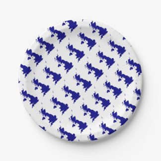 U.K. and Northern Ireland Silhouette Paper Plate