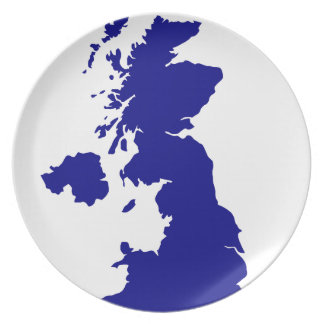 U.K. and Northern Ireland Silhouette Plate