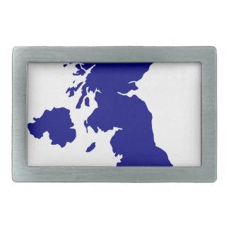 U.K. and Northern Ireland Silhouette Rectangular Belt Buckles