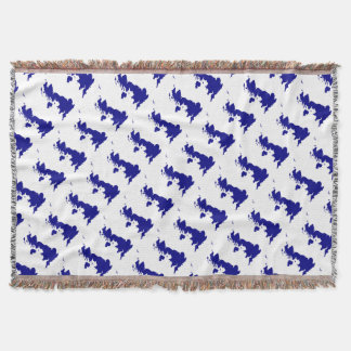 U.K. and Northern Ireland Silhouette Throw Blanket