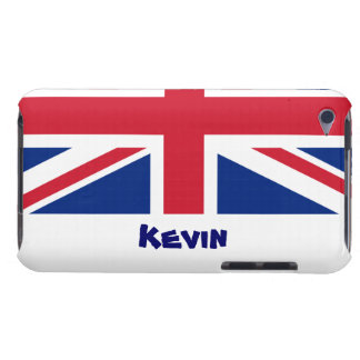 U.K. Flag/Personalize Name iPod Touch Case