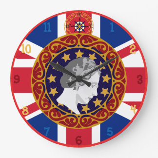 U.K. Queen Monogram Wall Clock