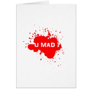 U MAD? STATIONERY NOTE CARD