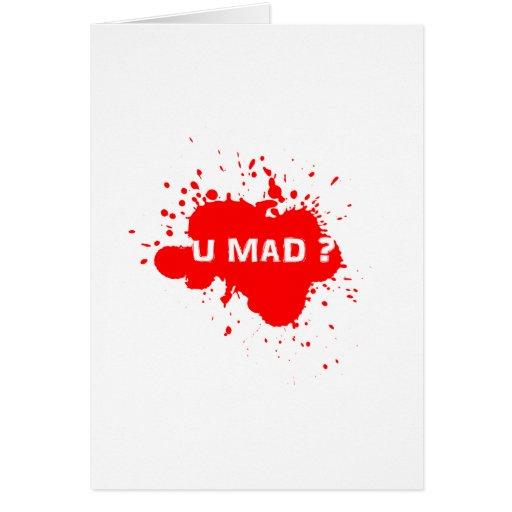 U MAD? CARDS