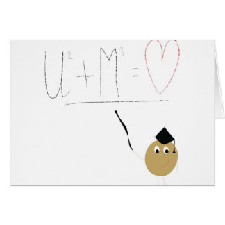 U + Me = love Greeting Card