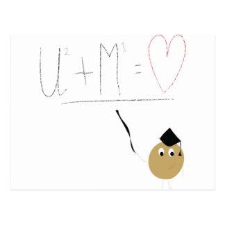 U + Me = love Postcard