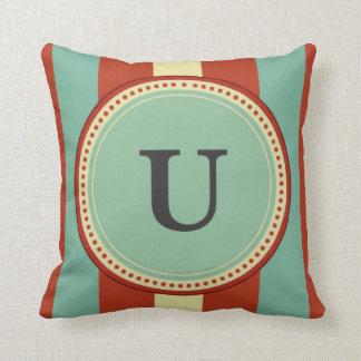 'U' Monogram Cushion