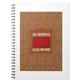 U need LOVE Template Reseller Customer QUOTE GIFTS Notebooks