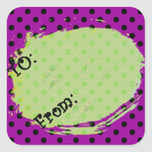 U Pick Background Color/Halloween Gift Tag Label Square Stickers