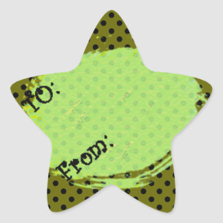 U Pick Background Color/Halloween Gift Tag Label Star Sticker