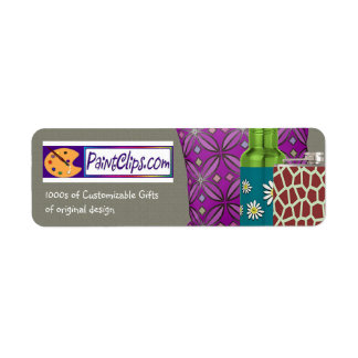 U Pick Color Advertise Web Site and Products Return Address Label