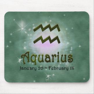 U Pick Color/ Aquarius Zodiac Sign Mouse Pad