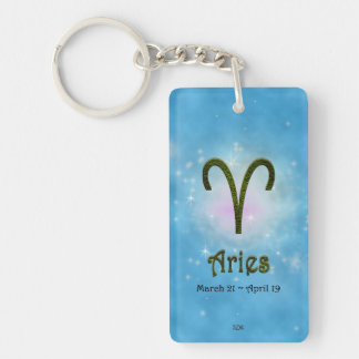 U Pick Color/ Aries Personalize Lost & Found Double-Sided Rectangular Acrylic Key Ring