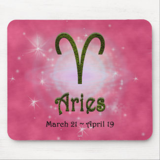 U Pick Color/ Aries Zodiac Sign Mouse Pad