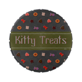U Pick Color Background/ Kitty Cat Traveling Treat Jelly Belly Candy Tins