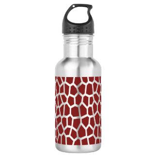 U pick Color/ Brown Giraffe Print in Mosaic Tile 532 Ml Water Bottle