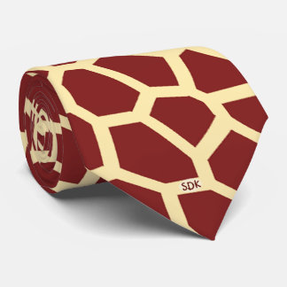 U pick Color/ Brown Giraffe Print in Mosaic Tile Tie