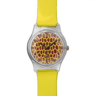 U pick Color/ Brown Giraffe Print in Mosaic Tile Watch