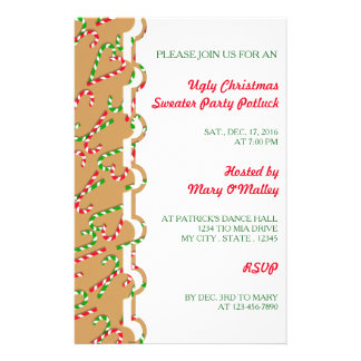 U Pick Color/ Christmas Holiday Candy Canes 14 Cm X 21.5 Cm Flyer