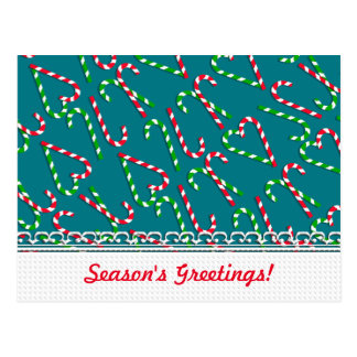 U Pick Color/ Christmas Holiday Candy Canes Postcard
