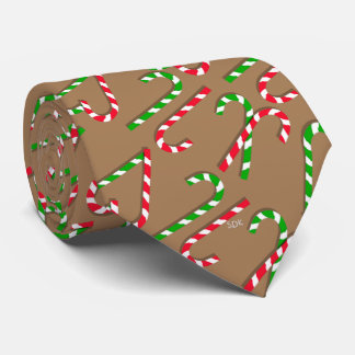 U Pick Color/ Christmas Holiday Candy Canes Tie