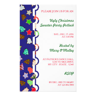 U Pick Color/ Christmas Holiday Cookies 14 Cm X 21.5 Cm Flyer