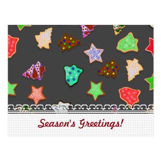 U Pick Color/ Christmas Holiday Cookies Postcard