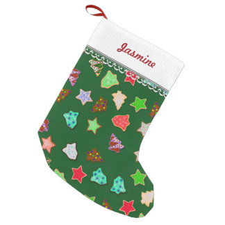 U Pick Color/ Christmas Holiday Cookies Small Christmas Stocking