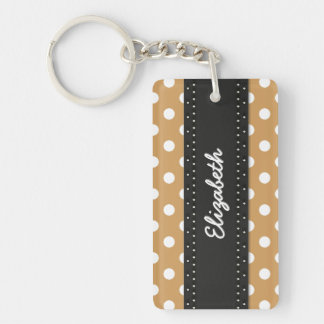 U-pick Color/ Classic White Polka Dots Lost Found Double-Sided Rectangular Acrylic Key Ring
