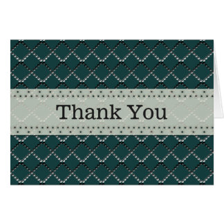 U pick Color/ Criss Crossing Chrome Metal St Note Card