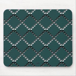 U pick Color/ Criss Crossing Chrome Metal Studs Mouse Pad