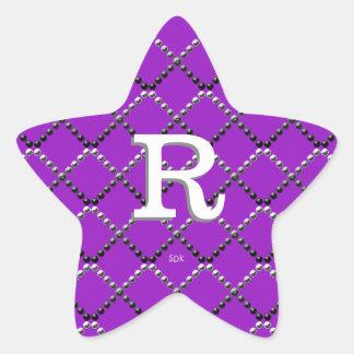 U pick Color/ Criss Crossing Chrome Metal Studs Star Sticker