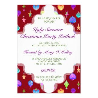 U Pick Color/ Crystal Christmas Tree Ornaments 13 Cm X 18 Cm Invitation Card