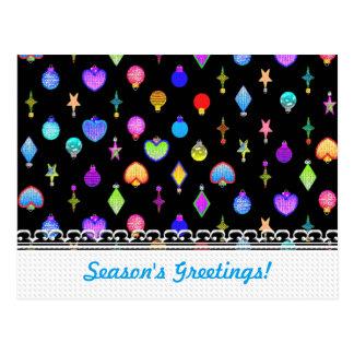 U Pick Color/ Crystal Christmas Tree Ornaments Postcard