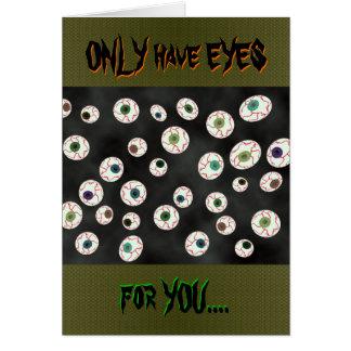 U Pick Color/ Floating Eye Ball Candy Customizable Card