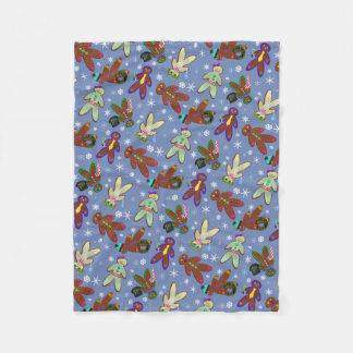 U-pick Color/ Gingerbread People & Snowflakes Fleece Blanket
