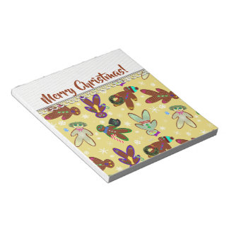 U-pick Color/ Gingerbread People & Snowflakes Notepad