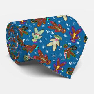 U-pick Color/ Gingerbread People & Snowflakes Tie