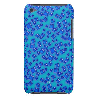 U-pick Color/Glowing Blue Crystal Sapphire Squares Barely There iPod Cases