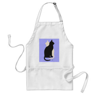 U Pick Color Good Luck Black and White Kitty Cats Apron