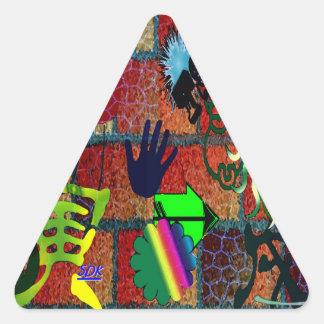 U-pick Color/ Graffiti Art Envelope Seal Triangle Stickers