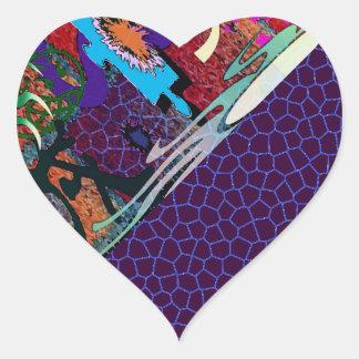 U-pick Color/ Graffiti Art Envelope Seal Heart Stickers