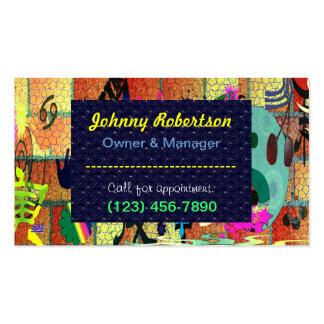 U-pick Color/ Graffiti Art on Brick Wall Business Card Template
