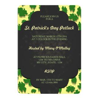 U-pick Color/ Green 4 Leaf Clover Blackboard Chalk 13 Cm X 18 Cm Invitation Card