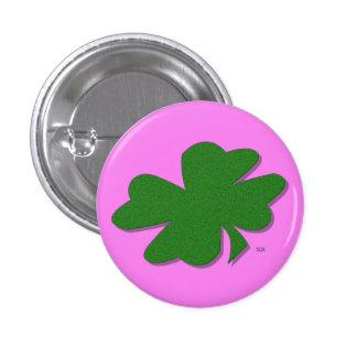 U-pick Color/ Green Good Luck Irish 4 Leaf Clover 3 Cm Round Badge