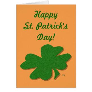 U-pick Color/ Green Good Luck Irish 4 Leaf Clover Greeting Card