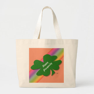 U-pick Color/ Green Good Luck Irish 4 Leaf Clover Jumbo Tote Bag