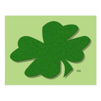 U-pick Color/ Green Good Luck Irish 4 Leaf Clover Postcard