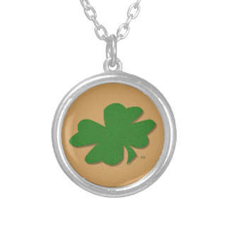 U-pick Color/ Green Good Luck Irish 4 Leaf Clover Silver Plated Necklace